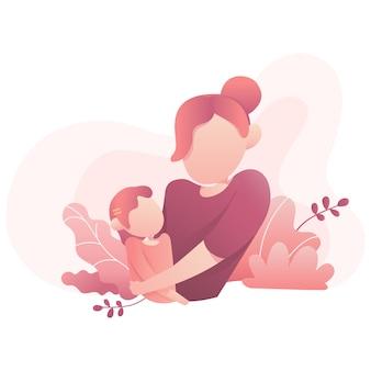 Illustration de la fête des mères