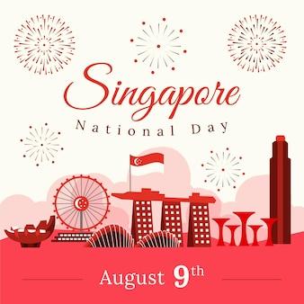Illustration de la fête nationale de singapour