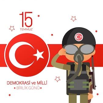 Illustration de la fête nationale de la turquie
