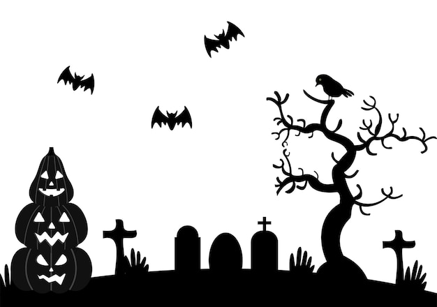 Illustration de fête de nuit d'halloween