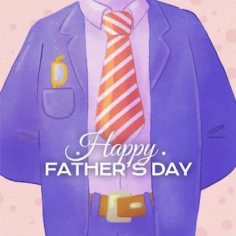Illustration de la fête des pères aquarelle peinte à la main