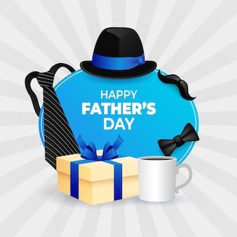 Illustration de la fête des pères dégradé