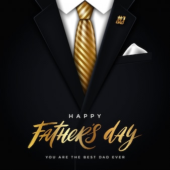 Illustration de la fête des pères heureux - carte de voeux.