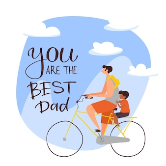 Illustration de la fête des pères