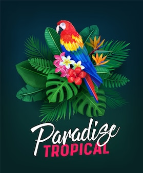 Illustration de fête tropicale