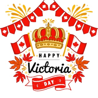 Illustration de la fête de la victoria canadienne dessinée à la main