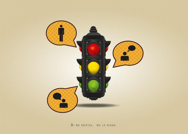 Illustration de feu de circulation