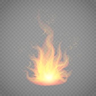 Illustration d'un feu de joie en flammes.