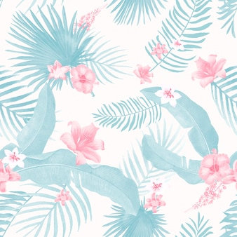 Illustration de feuillage tropical