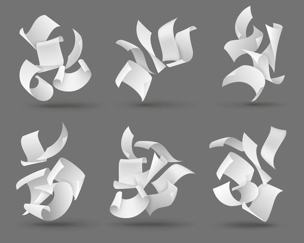 Illustration de feuilles de papier qui tombent