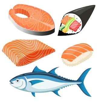 Illustration de filet de saumon