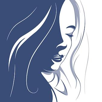 Illustration d'une fille aux cheveux bouclés