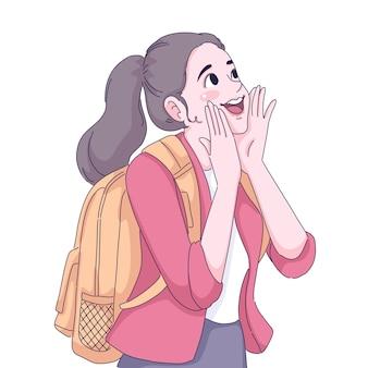 Illustration de fille de voyageur