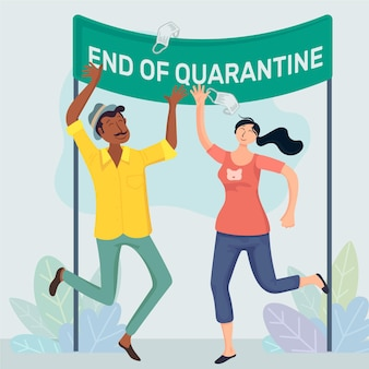 Illustration de fin de quarantaine