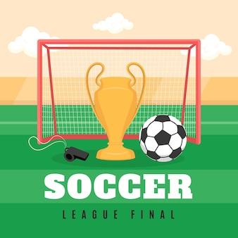 Illustration Finale De La Ligue De Football Plat Vecteur gratuit