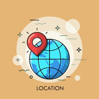Illustration de fine ligne de globe