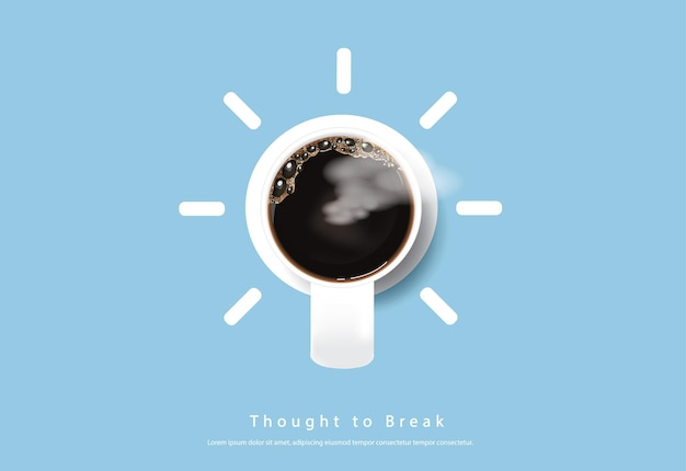 Illustration de flayers de publicité d'affiche de café