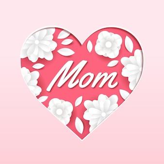Illustration de fleur de fête des mères