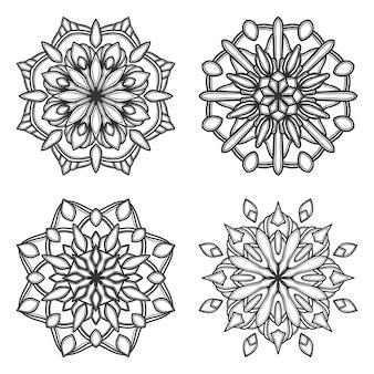 Illustration de fleur de mandala