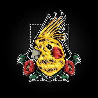 Illustration de fleur de perroquet