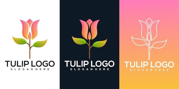 Illustration de fleur de tulipe