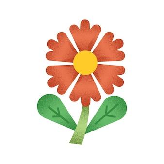 Illustration de fleur avec vapeur et feuille