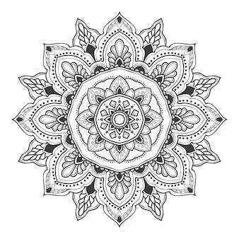 Illustration de fleurs de mandala à des fins multiples