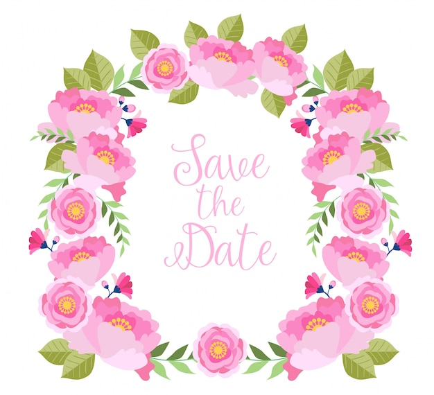 Illustration florale aquarelle pour gagner la date