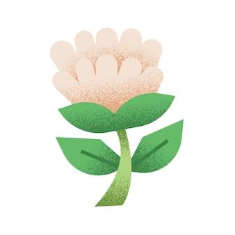 Illustration florale avec tige et feuille