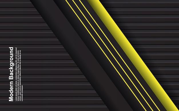 Illustration de fond abstrait couleur noir et jaune