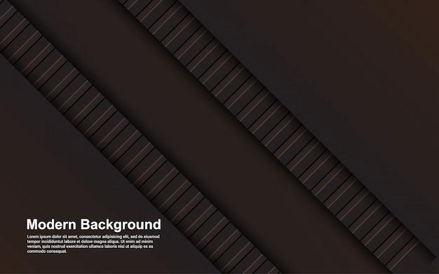 Illustration de fond abstrait couleur noir et marron