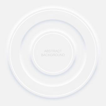 Illustration de fond abstrait dans le style néomorphisme blanc. fond d'écran minimal, toile de fond.