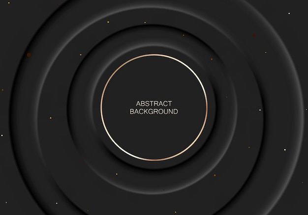 Illustration de fond abstrait dans le style néomorphisme noir. fond d'écran minimal, toile de fond.
