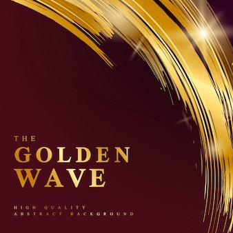 Illustration de fond abstrait vague d'or