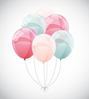 Illustration de fond de ballons brillants couleur