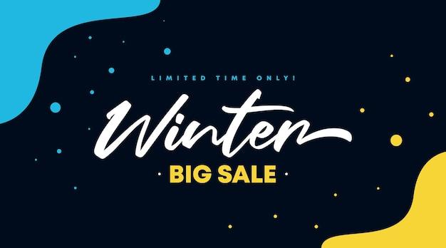 Illustration de fond bannière flyer vente hiver