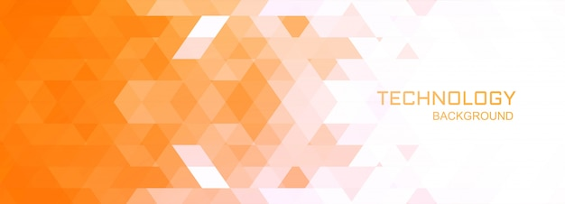 Illustration de fond de bannière de technologie géométrique