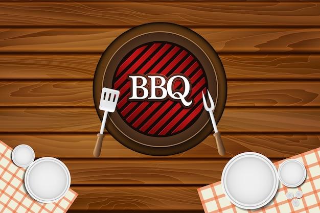 Illustration de fond bbq table restaurant restaurant