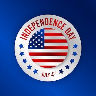 Illustration de fond de bonne fête de l'indépendance de l'amérique