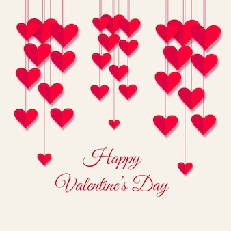 Illustration de fond de carte belle saint valentin