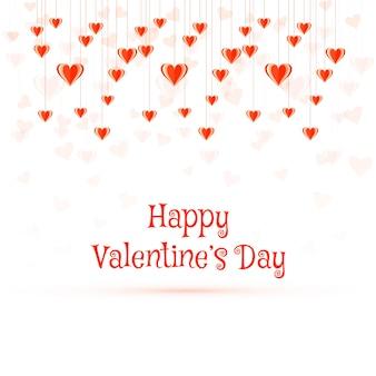 Illustration de fond de carte coeurs colorés saint valentin