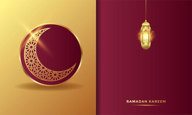Illustration de fond de carte de voeux islamique ramadan kareem