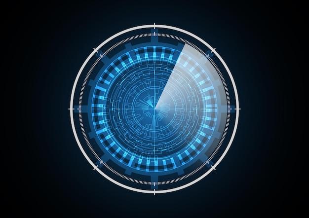 Illustration de fond de cercle futur radar technologie abstraite