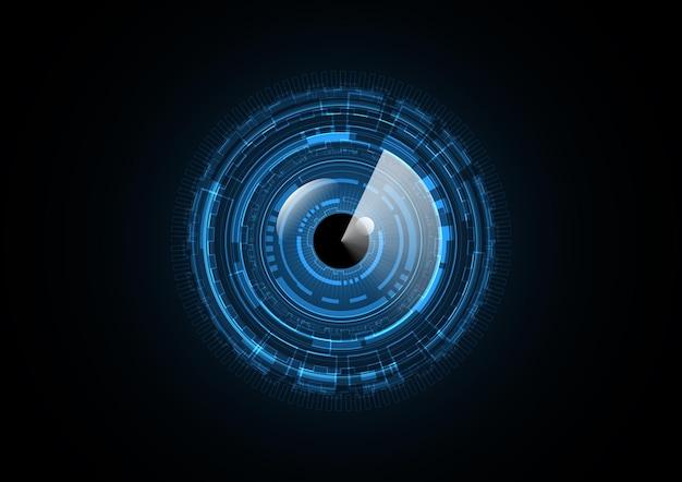 Illustration de fond de cercle radar futur œil technologie abstraite