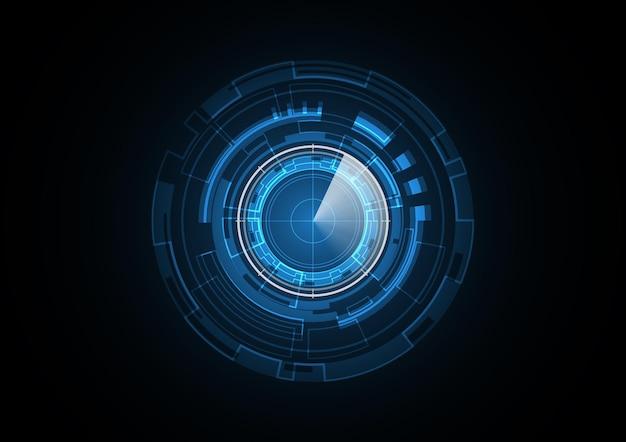 Illustration de fond de cercle de sécurité futur radar technologie abstraite