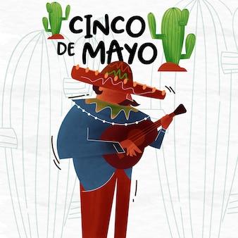 Illustration de fond de cinco de mayo
