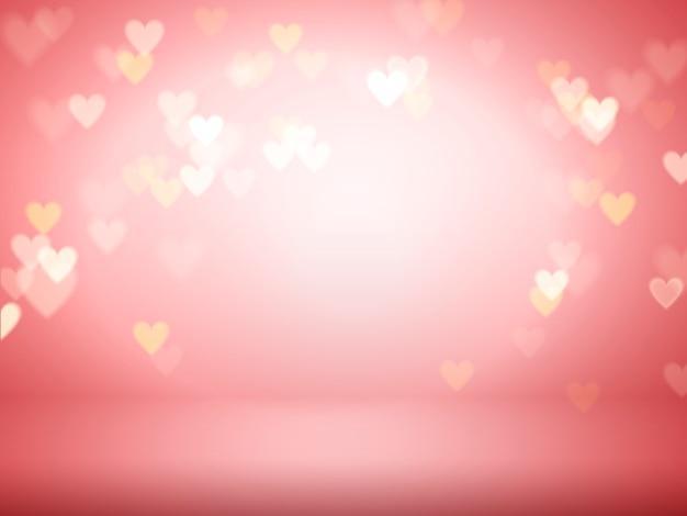 Illustration de fond de coeur décoratif