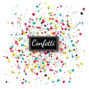 Illustration de fond confettis colorés