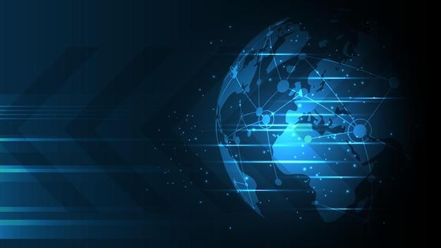 Illustration de fond de connexion réseau mondial