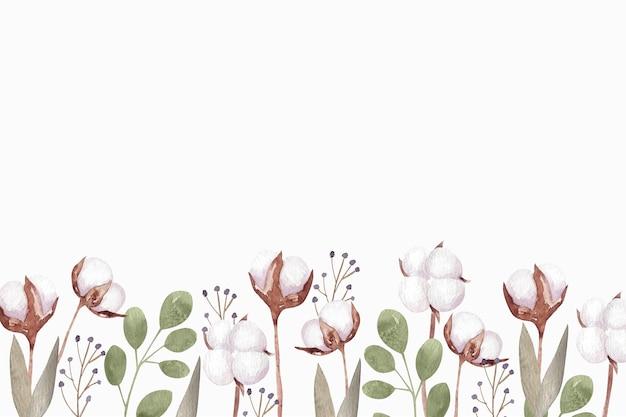Illustration de fond de coton aquarelle